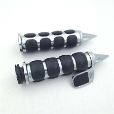 "Chrome Spike 1"" Hand Grip For Yamaha Road Star V Star 1100 Classic 650 Custom"