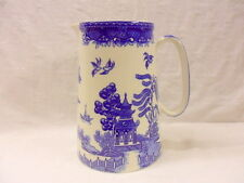 VINTAGE Blue Willow Design 4 Pinta brocca caraffa da Heron Cross Pottery
