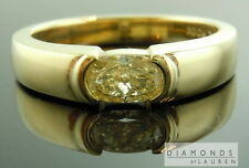 .73ct Fancy Yellow SI2 Oval Shape Diamond Mens Ring GIA R7279 Diamonds By Lauren