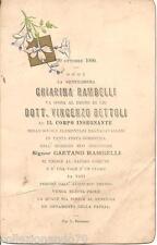 BAGNACAVALLO 20 OTTBRE 1920 CARTONCINO AUGURALE DI NOZZE -