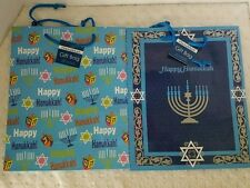 NEW Lot of 12 Hanukkah Gift Bags-2 Different Designs (Six of each design)