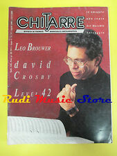 rivista CHITARRE 37/1989 Leo Brouwer David Crosby Level 42 Max Carletti No cd
