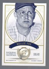 2012 National Treasures Nellie Fox Jersey Button #6/7 Chicago