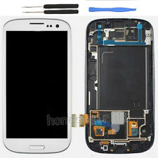 For Samsung Galaxy S3 i9300 Touch Screen Digitizer LCD Display + Frame White