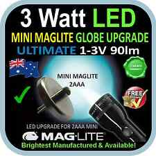 MAGLITE MINI LED UPGRADE 2AAA 3W BULB GLOBE for FLASHLIGHT TORCH 1-3V 90lm