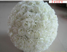 IVORY Rose Flower Ball Wedding decoratin Ball Kissing Ball 11-12 inch USA Seller