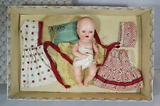 "VINTAGE 1950s BOXED 6"" HARD PLASTIC ROSEBUD SUCK-A-THUMB DOLL IN DOLLERIES BOX"