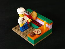 Lego city minifig Girl Chef bakes pie orange mauve kitchen gold pan fork NEW R1