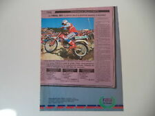advertising Pubblicità 1985 MOTO FANTIC TRIAL 301 e THIERRY MICHAUD