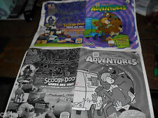 2 LOT ORIGINAL PROOF POSTER SCOOBY DOO FAST FOOD BURGER KING TOY
