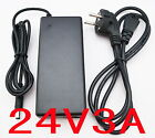 AC 100V-240V Converter Adapter DC 24V 3A Power Supply Charger  US EU AU UK plug