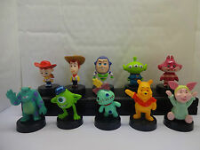 DISNEY - PIXAR CAKE TOPPER MIX - TOY STORY - WINNIE THE POOH 10 PLASTIC FIGURES