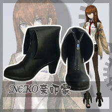 Steins Gate Makise Kurisu Christina Cosplay Shoes Women High Heels Customized