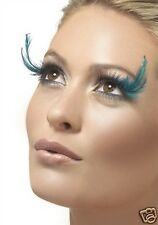 Black Teal Eyelashes False Lashes With Teal Feather Plumes Ideal Sexy Look New