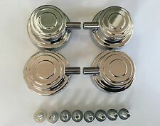 "(4) DW Chrome Tom Lugs w Mounting Hardware & Cookies, Floor, 8"" Deep Snare Drums"