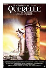 QUERELLE Movie POSTER 27x40 Brad Davis Jeanne Moreau Franco Nero Laurent Malet