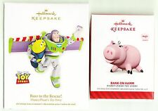 2012 2014 Hallmark Ornament  BUZZ TO THE RESCUE & BANK ON HAMM  Disney Toy Story