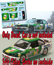 Decal 1:43 Jose Maria Ponce - BMW M3 - Rally Islas Canarias El Corte Ingles 2013