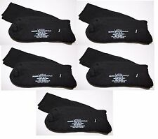 (5) Pairs Wool Blend Socks LARGE Military Issue Black Fits-12-13-MADE-IN-THE-USA