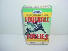 NFL's Super Duper Football Follies Sports Illustrated VHS Video Tape 1989