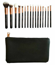Zoe London 16 Pcs Oro Color Rosa Brocha para maquillaje set De lujo brochas