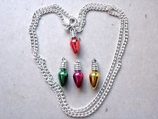 Necklace Tree lights/red/green/yellow/hot pink Birthday/Christmas/Gift/Novelty 1