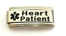 9mm Classic Size Italian Charms S10 Medical Alert Heart Patient