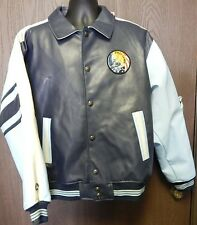First Down Aviation Leather Jacket Size X-Large Air Commander Rare Free Shipping