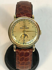 1940s Omega 14k Triple Calendar Moon Phase Vintage Watch - Very Clean