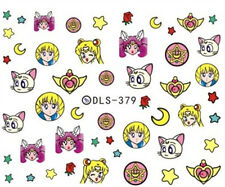 Japanese Anime Sailor Moon Water Nail Art Sticker Nail Decals Christmas #379