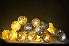 GUIRLANDE LUMINEUSE LED 20 BOULES // 20 COTTON BALLS LED STRING LIGHT