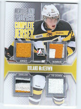 2013-14 Heroes & Prospects Complete Jersey SILVER RC - ROLAND MCKEOWN #CJ-08 /9