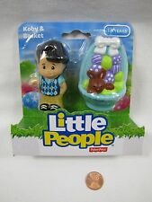 New Fisher Price Little People KOBY BOY & EASTER BASKET 2014 Ages 1-5 Rare!
