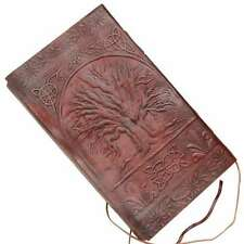 Medieval Sacred Tree Of Life Reniassance Embossed Handmade Leather Journal