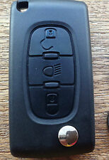 Citroen Dispatch Grand Picasso 3 Button Flip Key Fob Case Repair Kit C4lsng