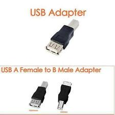 USB 2.0 Type A Female to B Male Printer HDD PC Cable Connector Converter Adapter