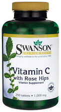 VITAMIN C PREMIUM 1000MG ROSE HIPS ANTI COLD FLU IMMUNITY SUPPLEMENT 250 TABLETS