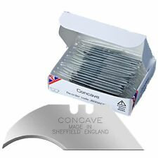 100 stanley knife blades - concave - curved (stanley type) boxed