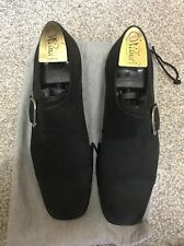 moreschi men black shoes with buckle on the side