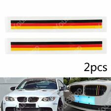 2 PCS Front Grill Grille Lining Strips Sticker Decal German Flag For BMW