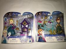 2016 DISNEY FROZEN LITTLE KINGDOM DOLLS ELSA & THRONE AND ANNA & BICYCLE