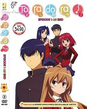 JAPAN Anime DVD TORADORA Complete Series (1-25 End) + Bonus 2 OVA English Dubbed