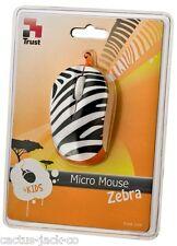 NUOVO TRUST Black & White Zebra USB OTTICO MICRO MOUSE