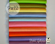 "NEW **** PASTELS Felt Collection, Merino Wool Blend Felt, TEN 9"" X 12"" Sheets"