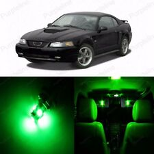 8 x Ultra Green LED Interior Light Package For 1994 - 2004 Ford Mustang
