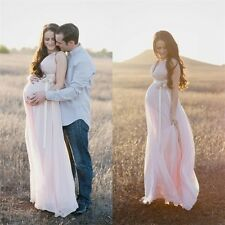 Sexy V Neck Formal Evening Maternity Dress Empire Chiffon Pageant Prom Gown 2015