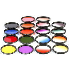 18pcs 67mm Full Color Graduated Color Lens Filter Kit For Nikon D7000 D90 18-105
