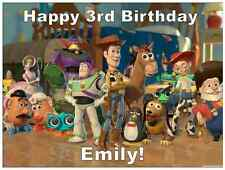 "Toy Story Cake Topper Personalised Edible Wafer Paper 7.5"" By 10"" A4"
