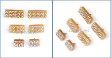 Beige 16mm x 40mm Rectangle Shoe High Heel Repair Cap End Tip Pin Like Rubber