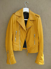 Balenciaga Moutarde Mustard Leather Jacket Size 42 FR $2650 Worn Once!
